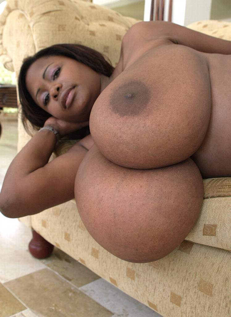 Naked black women natural breasts something is