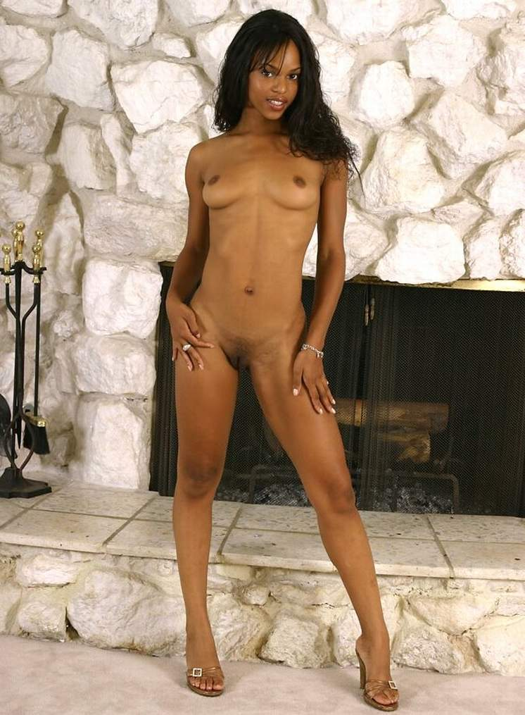 Skinny black girl having sex