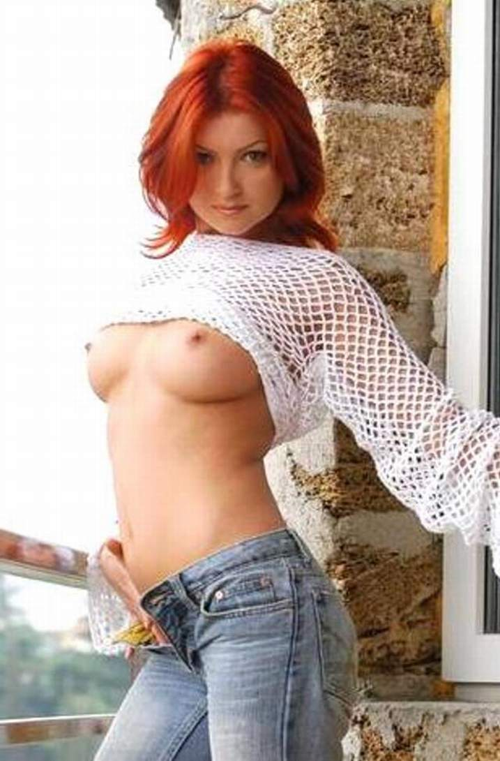 Milf redhead ass jeans xxx screams and cums