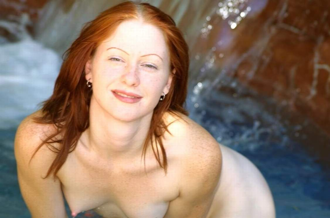 Woman redhead beautiful mature