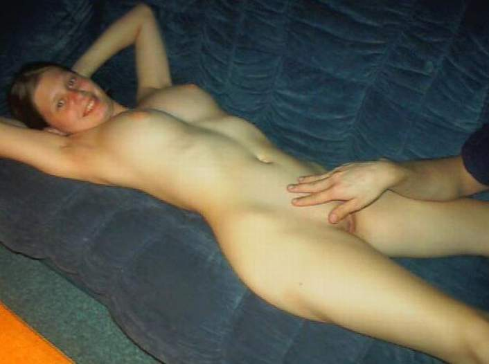 Nude bend over backwards