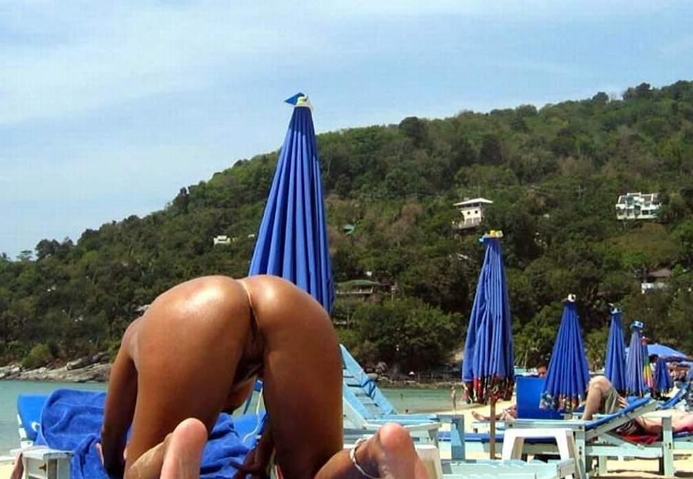 Mexican ass naked on the beach